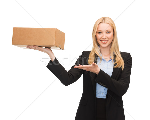 Photo stock: Femme · d'affaires · photos · jeunes · boîte