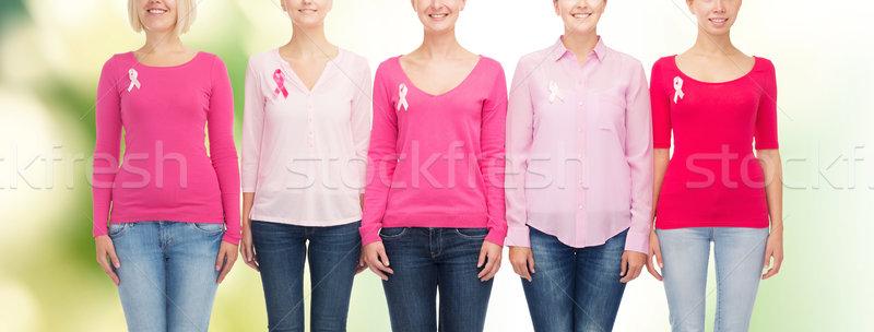 Donne cancro consapevolezza nastri sanitaria Foto d'archivio © dolgachov