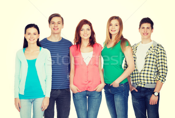 Stock photo: group of smiling students standing