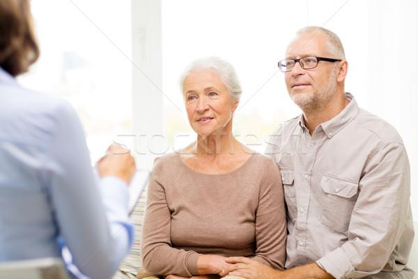 счастливым домой семьи отношения возраст Сток-фото © dolgachov