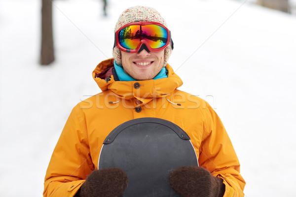 Feliz joven aire libre invierno ocio Foto stock © dolgachov