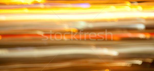 Arany fényes éjszaka fények ünnepek világítás Stock fotó © dolgachov