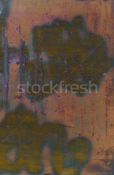 Arrugginito superficie metallica texture muro design sfondo Foto d'archivio © dolgachov