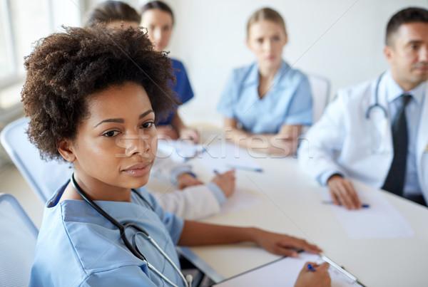 женщины врач группа больницу профессия Сток-фото © dolgachov