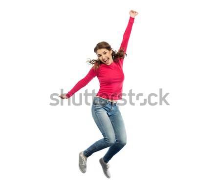 Feliz estudiante nino mochila skateboard infancia Foto stock © dolgachov