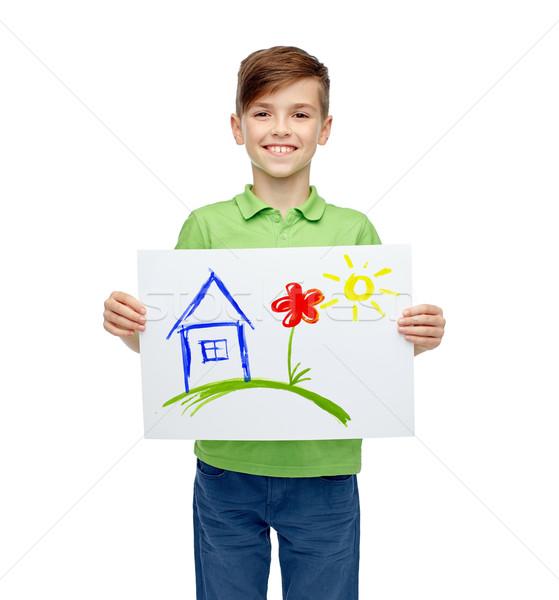 çizim resim ev çocukluk Stok fotoğraf © dolgachov