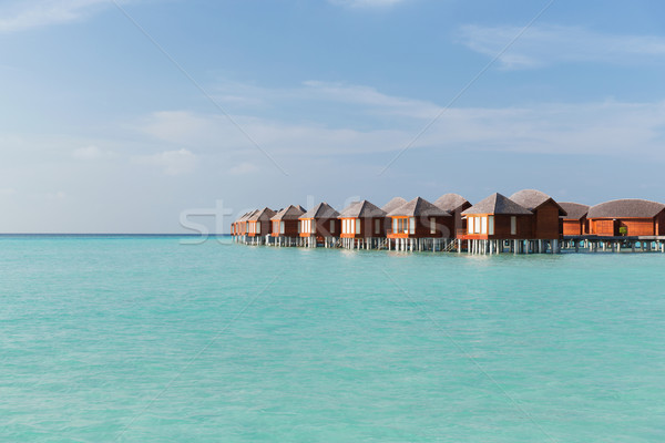 Foto stock: Bungalow · mar · agua · exótico · Resort · playa