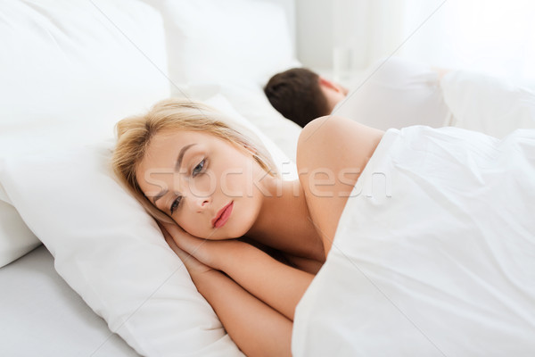 young woman suffering from insomnia Stock photo © dolgachov