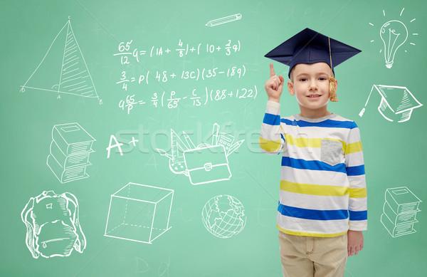 Nino soltero sombrero pizarra infancia Foto stock © dolgachov