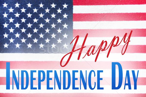 Közelkép amerikai zászló nap évforduló ünneplés ünnepek Stock fotó © dolgachov