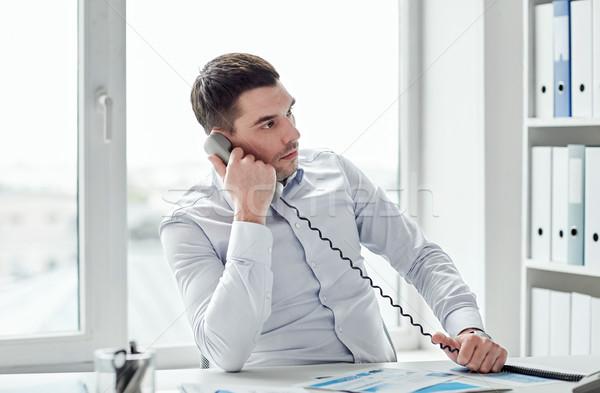 сердиться бизнесмен призыв телефон служба деловые люди Сток-фото © dolgachov