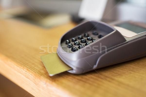 Leitor caixa eletrônico financiar dinheiro Foto stock © dolgachov