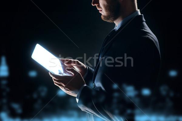ビジネスマン 透明な ビジネスの方々  将来 ストックフォト © dolgachov