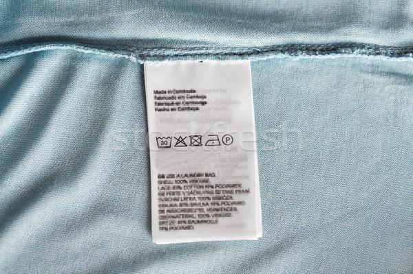Etiqueta usuários manual roupa item roupa Foto stock © dolgachov