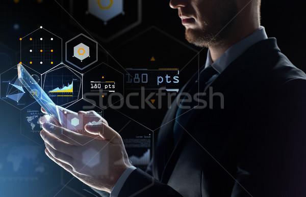 Empresário transparente pessoas de negócios futuro Foto stock © dolgachov