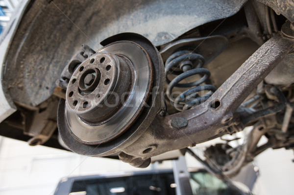 Coche freno disco reparación estación auto Foto stock © dolgachov