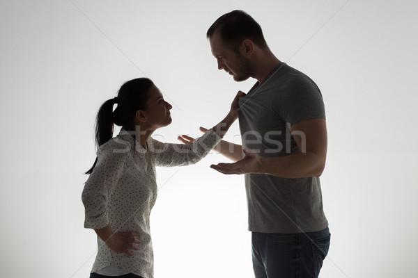 angry couple having argument Stock photo © dolgachov