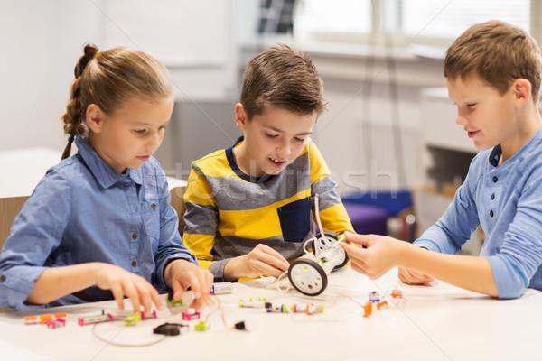 快樂 孩子 建設 機器人 機器人 學校 商業照片 © dolgachov