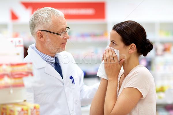病気 顧客 薬局 薬 医療 人 ストックフォト © dolgachov