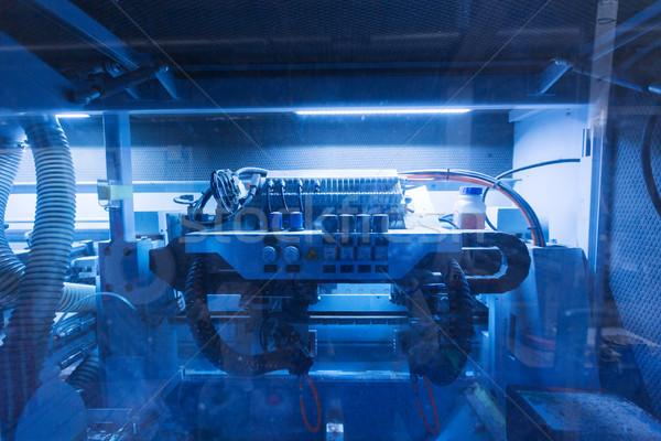 machine at woodworking plant shop Stock photo © dolgachov