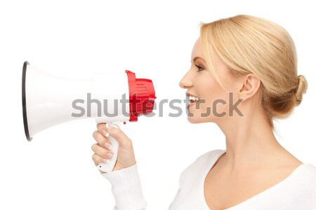 男 メガホン 明るい 画像 怒っ ビジネス ストックフォト © dolgachov