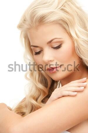 Melek kız iç çamaşırı kanatlar parlak resim Stok fotoğraf © dolgachov