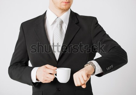 Hombre mirando reunión empresario Foto stock © dolgachov