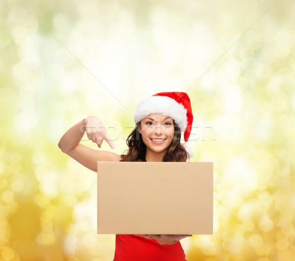 Sorrindo ajudante seis pacote caixa Foto stock © dolgachov