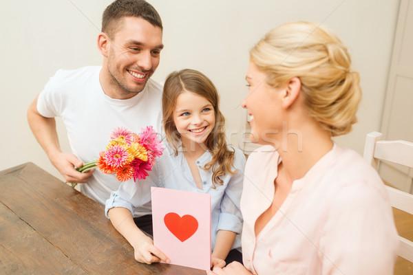 Foto stock: Família · feliz · mães · dia · férias · família