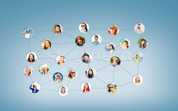 social network Stock photo © dolgachov