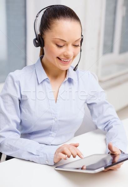 дружественный женщины телефон доверия оператор бизнеса Сток-фото © dolgachov