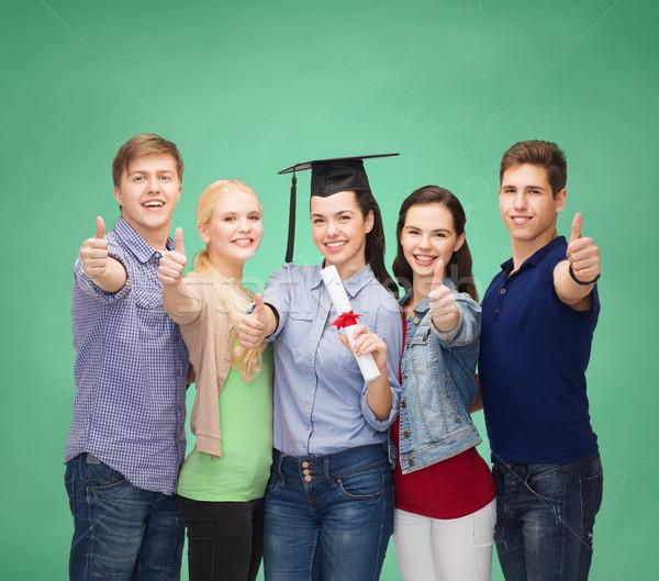 Grup Öğrenciler diploma eğitim Stok fotoğraf © dolgachov