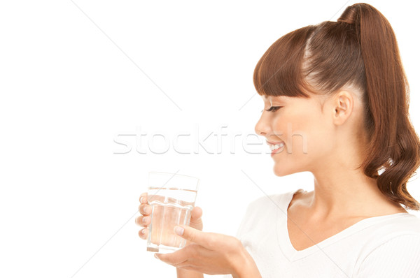 woman with glass of water Stock photo © dolgachov