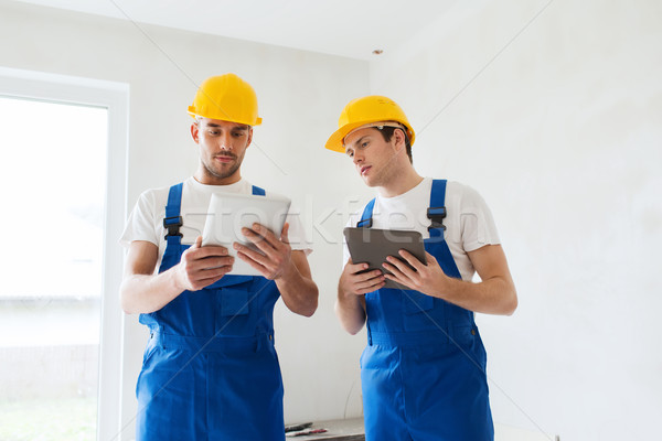 Foto stock: Construtores · equipamento · edifício