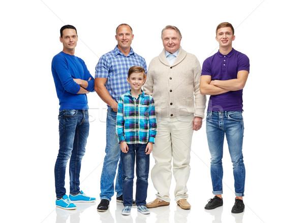 Grup gülen erkekler erkek erkek cinsiyet Stok fotoğraf © dolgachov