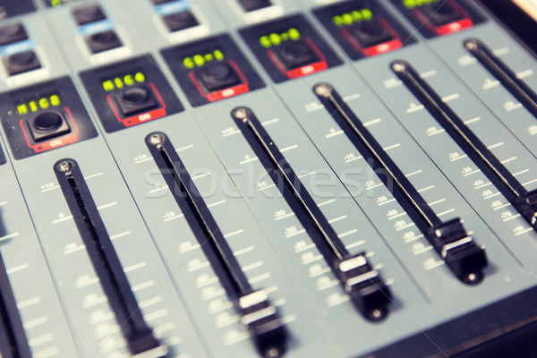 Stock photo: control panel at recording studio or radio station