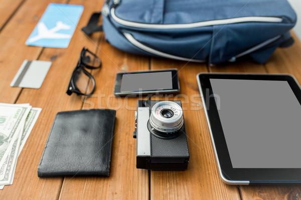 Camera gadgets reizen toerisme technologie Stockfoto © dolgachov