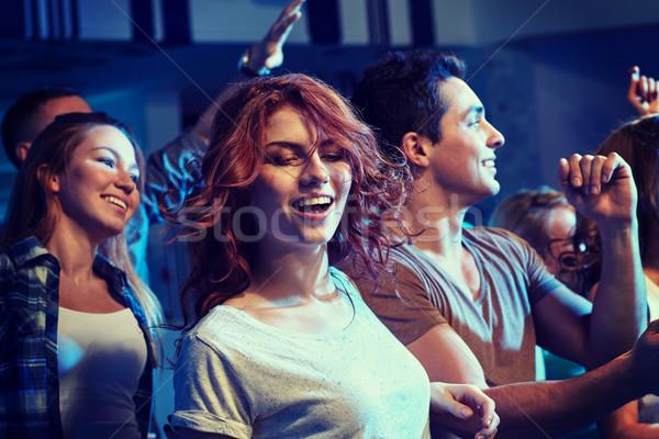 Stock fotó: Boldog · barátok · tánc · éjszakai · klub · buli · ünnepek
