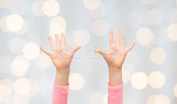 Piccolo bambino mani persone Foto d'archivio © dolgachov