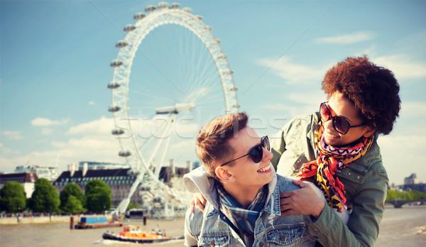 Stockfoto: Gelukkig · paar · Londen · vriendschap