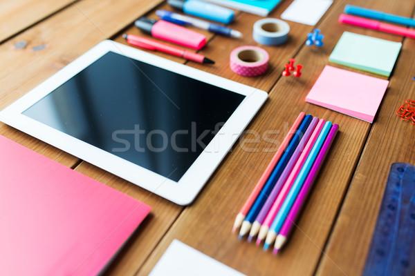 школьные принадлежности образование искусства креативность Сток-фото © dolgachov