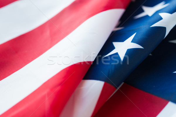 Amerikan bayrağı amerikan gün milliyetçilik mutlu Stok fotoğraf © dolgachov