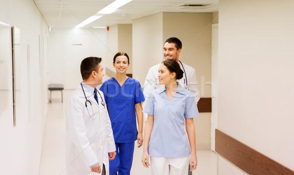 ストックフォト: グループ · 幸せ · 医師 · 病院 · クリニック · 職業