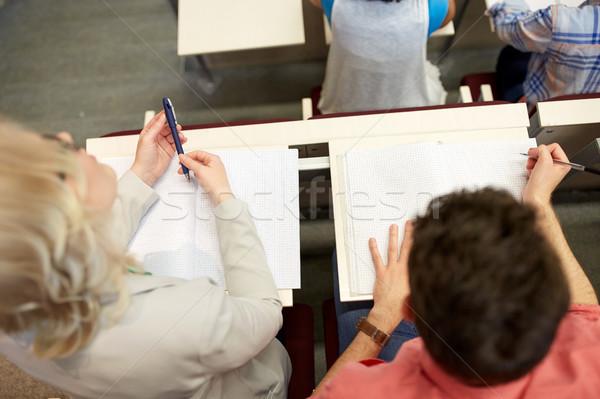Studentów notebooki egzamin wykład edukacji liceum Zdjęcia stock © dolgachov