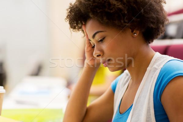 Afryki student dziewczyna wykład edukacji Zdjęcia stock © dolgachov