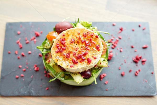 Сыр из козьего молока Салат овощей кулинарный кухня Сток-фото © dolgachov