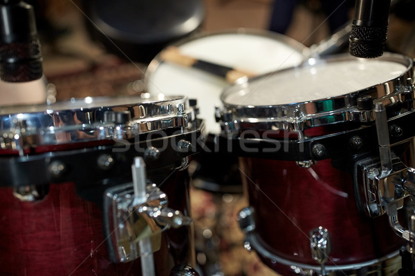 drums at music studio Stock photo © dolgachov