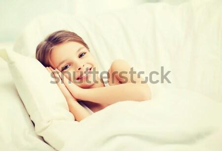 Jeune femme souffrance insomnie personnes santé dormir Photo stock © dolgachov