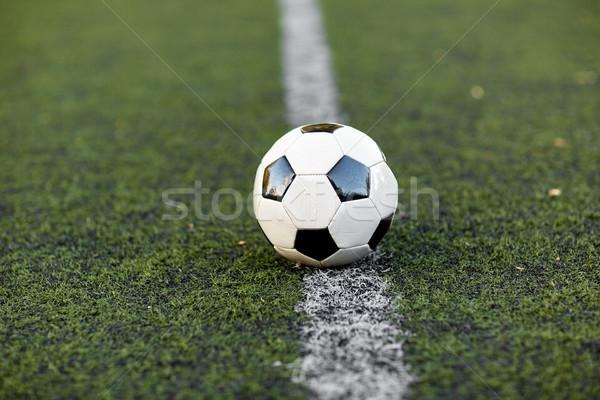 Ballon terrain de football ligne sport football jeu Photo stock © dolgachov
