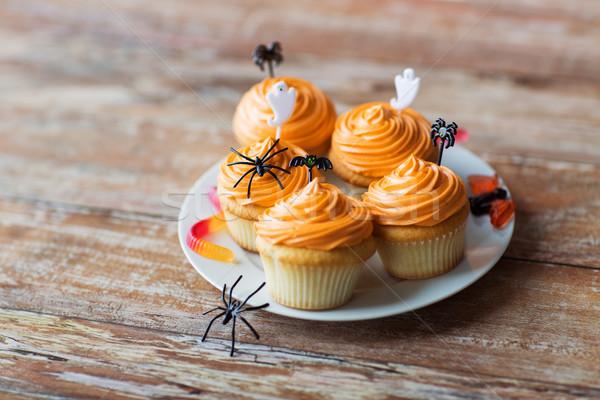 Halloween parti tablo gıda Stok fotoğraf © dolgachov